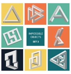 Impossible objects set 3 vector