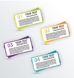 Infographic textbox vector