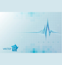 medical cardio template vector image