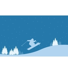 Merry christmas winter landscape collection vector