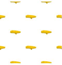 Pancakes pattern flat vector