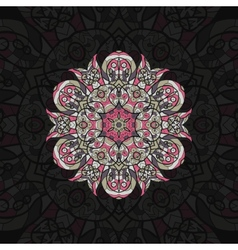 Pink mandala template for menu greeting card vector