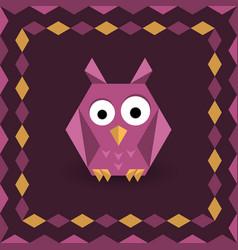 polygonal origami owl vector image vector image