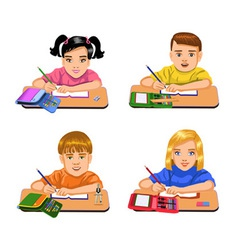pupils writing vector image