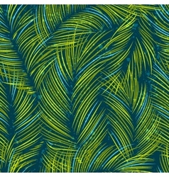 Seamles background with tropical palm vector