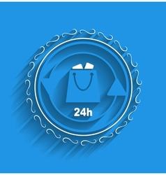 shopping bag icon modern flat design vector image