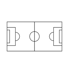 Soccer field icon outline style vector image