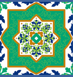 Spanish classic ceramic tiles seamless patterns vector