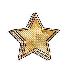 Star prize decoration image vector