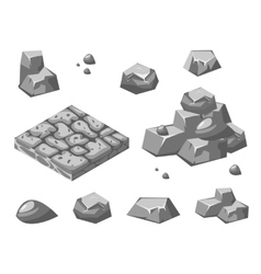 Stones and rocks vector