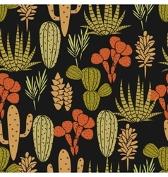 Succulents plant seamless pattern vector image vector image