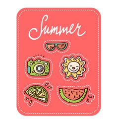 Summer doodle set vector