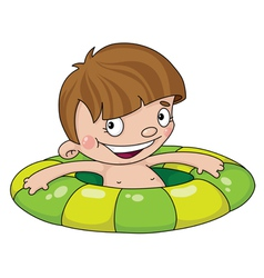 swimmer boy vector image