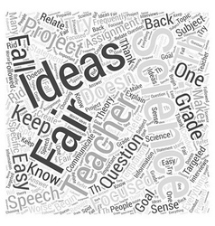 Th grade science fair project ideas word cloud vector