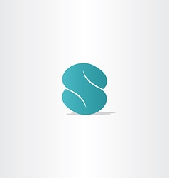 turquoise logo letter s logotype icon vector image vector image