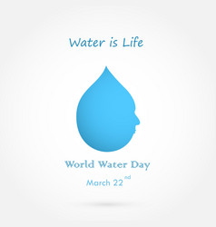 Water drop with human face logo design and water vector