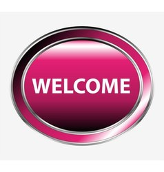 Welcome button vector