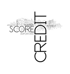 When your credit score become important text word vector