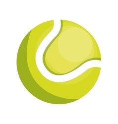 Tennis ball isolated icon vector