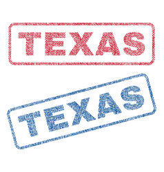 Texas textile stamps vector