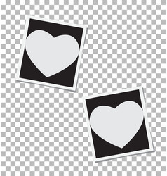 Heart photo frame insert your photo vector