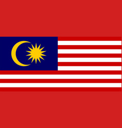 Colored flag of malaysia vector