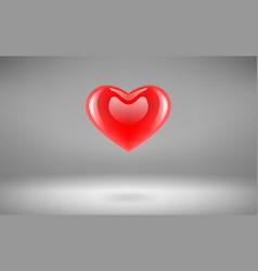 heart glossy vector image