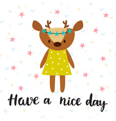 Have a nice day inspirational quote hand drawn vector