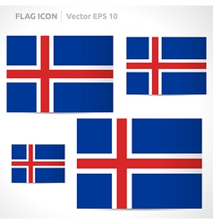 Iceland flag template vector