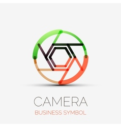 Shutter icon company logo business symbol concept vector