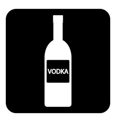 Vodka bottle symbol button vector