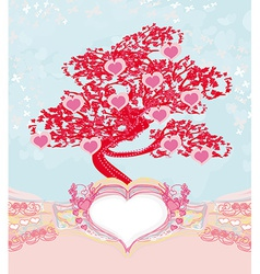 Abstract heart tree - beautiful valentines card vector