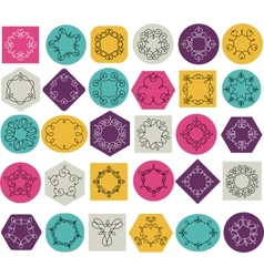 Collection of abstract geometrical icons elements vector