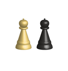 3d chess pieces on white background 3d chess vector
