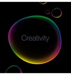 Creativity abstract background with speech bubble vector