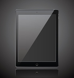 New realistic tablet modern style dark background vector