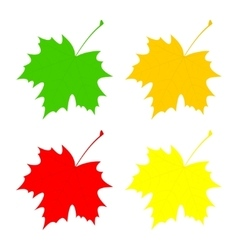 Set maple leaf vector