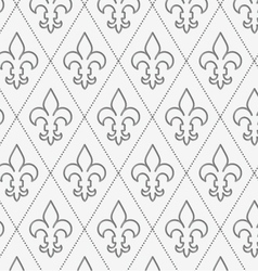 Perforated countered fleur-de-lis vector