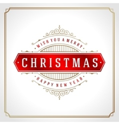 Christmas retro typographic and flourishes vector