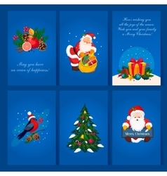 Set of christmas and new year greeting cards vector