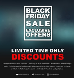 Posters black friday sale vector