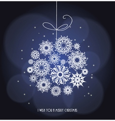 Christmas greeting card merry christmas card vector