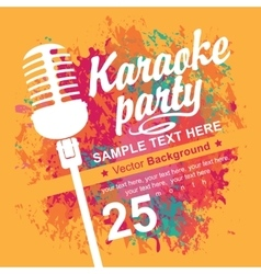 Banner with microphone for karaoke parties vector