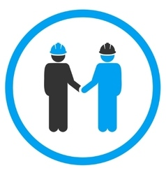 Engineer Handshake Icon vector image