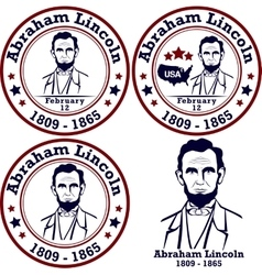 Abraham lincoln stamps vector