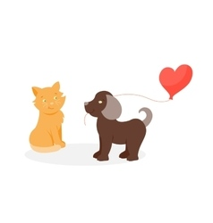 Animal couple in love vector image