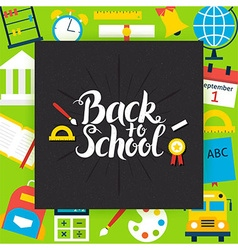 Back to School with Chalkboard Template Concept vector image