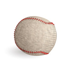 Baseball abstract ball vector