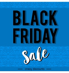 Black friday sale banner on patterned background vector