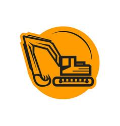 Bold excavator icon vector